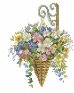 Схема Подвеска с цветами