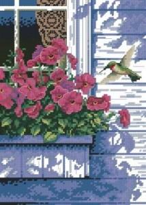 Схема Цветы на балконе