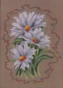 Схема Белые цветы