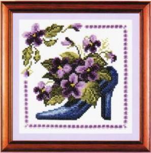 Схема Туфельки Фиолетовый каприз