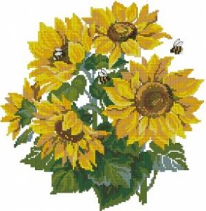 Схема Подсолнухи и пчёлы