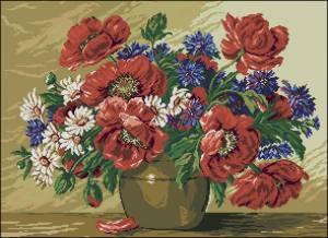 Схема Ваза с цветами / G 209 Vas cu flori de vara