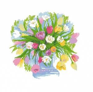 Схема Акварельные тюльпаны