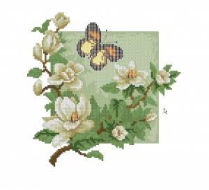 Схема Магнолии с бабочкой
