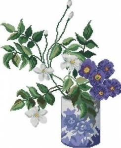 Схема Цветы в горшке
