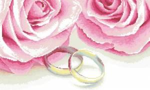 Схема Свадебная с розами
