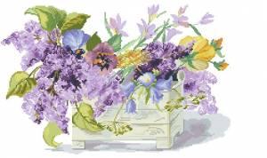 Схема Фиолетовый букет