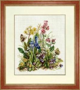 Схема Голубые цветы / Flowers Blue
