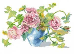 Схема Розы в вазе