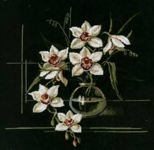 Схема Орхидеи на черном