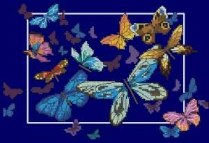Схема Экзотические бабочки