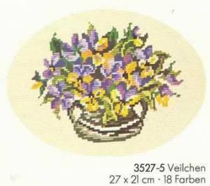 Схема Фиалки в овале / Wiehler 3527-5 Veilchen