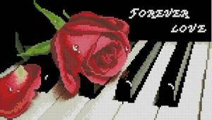 Схема Роза на рояле