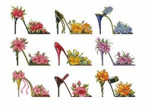 Схема Туфельки в цветах