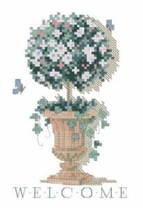 Схема Топиарий добро пожаловать / Topiary Welcome