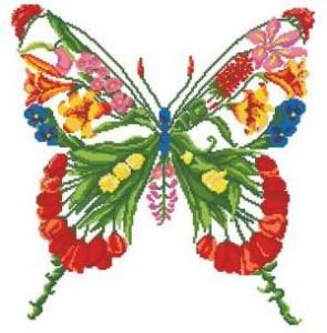 Схема Бабочка из цветов