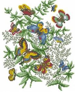 Схема Бабочки и цветы