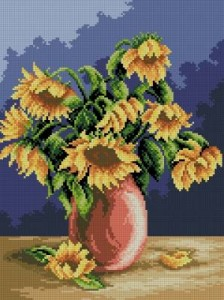Схема Подсолнухи в вазе