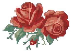 Схема Две маленькие розы