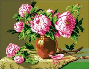 Схема Розовые пионы