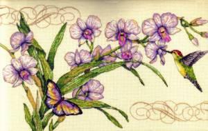 Схема Орхидея и колибри