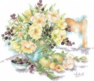 Схема Цветы и фрукты