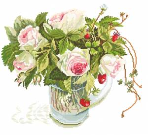 Схема Розы в фужере