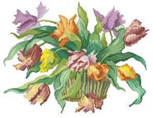 Схема Букет тюльпанов / Parrot Tulips Bouquet