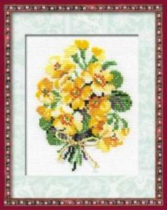 Схема Букетик желтый
