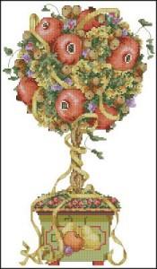 Схема Осеннее дерево, топиар