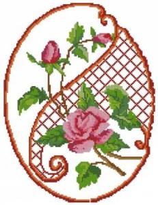 Схема Орнамент с розой