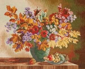 Схема Букет осенних цветов / Wiehler 3514-4 Bunch of Autumn Flowers