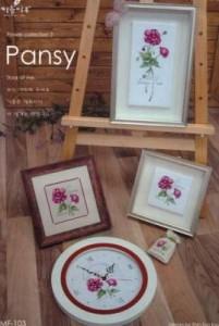 Схема Цветочная коллекция Анютины глазки / Flower Collection Pansy (Все три части)