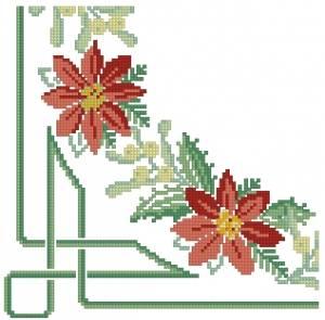 Схема Салфетка с цветами