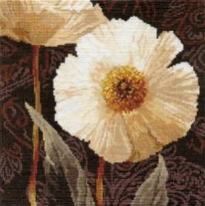 Схема Белые цветы. Открытые свету