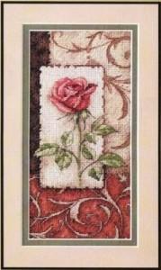 Схема Одинокая роза / Single Rose