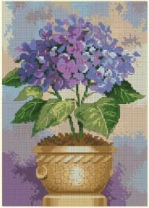 Схема Гортензия в цвету / Hydrangea in Bloom