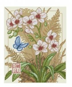 Схема Азиатские цветы / Asian blossoms