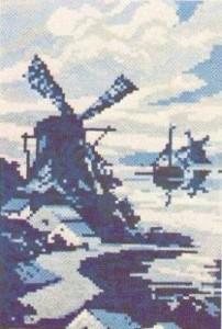 Схема Голландская мельница / Wiehler 3212 Hollandische Windmuhle