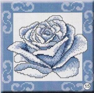 Схема Голубая роза