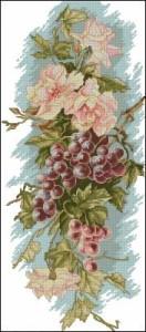 Схема Цветы и виноград