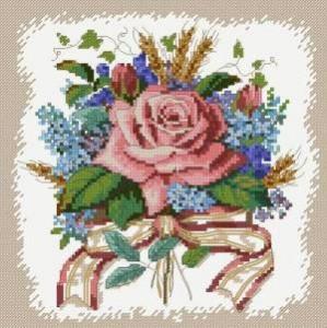 Схема Букет с розой