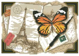 Схема Париж (открытка)