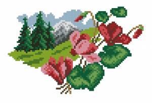 Схема Цветочный календарь. Октябрь
