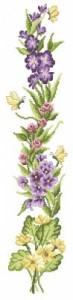 Схема Панель дикие колокольчики / Wild Flowers Bell Pull