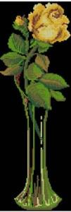 Схема Желтая роза на черном