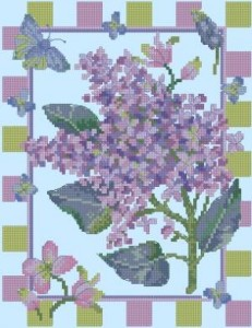 Схема Сирень и бабочка