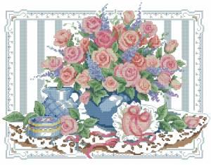 Схема Кувшин с розами