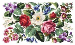 Схема Викторианские цветы