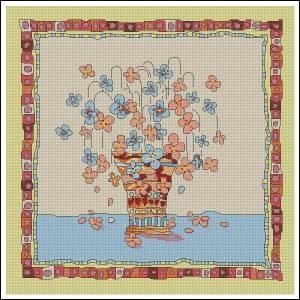 Схема Цветочная подушка